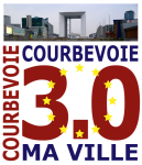 COURBEVOIE 3-0 - Logo - communication