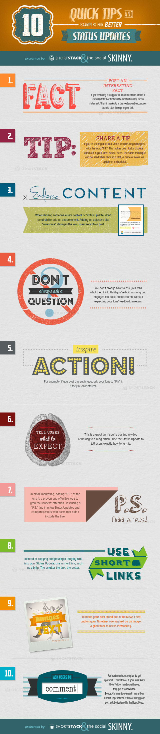 Infographie 10 - tips-for-better-status-updates
