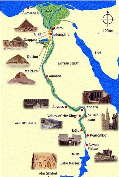 Egypte - map