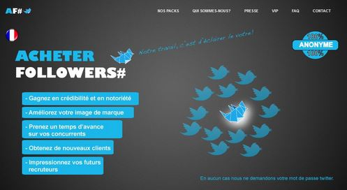 Astroturfing - Achat followers