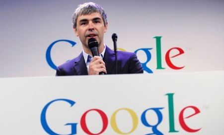 Larry Page brandit le risque de la censure (photo Eduardo Munoz - Reuters)