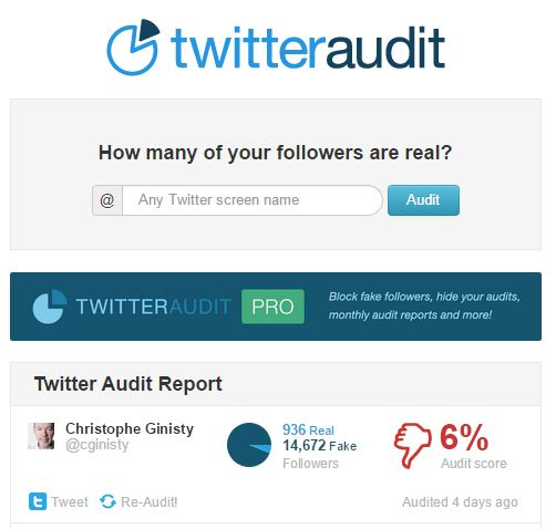CG twitter audit
