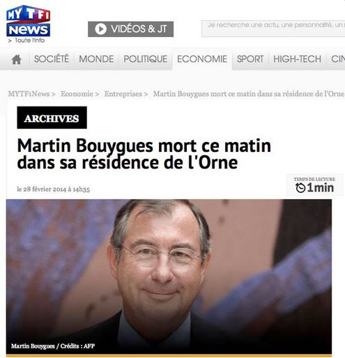 Bouygues - TF1 mort MB