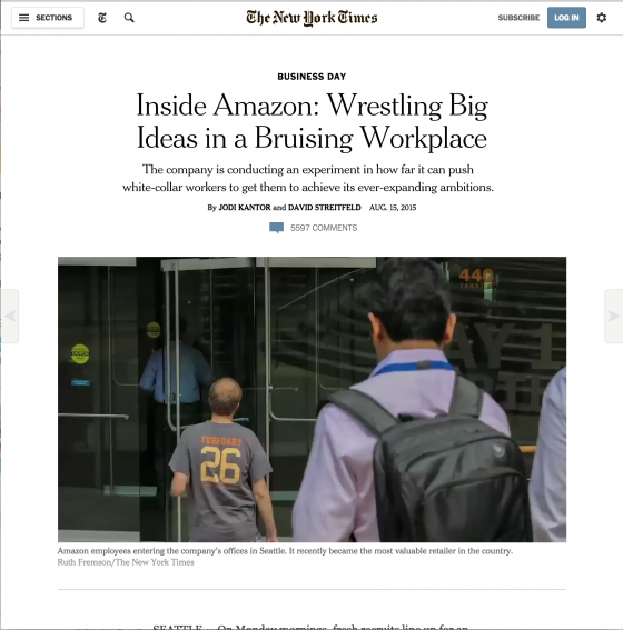 Amazon - on-New-York-Times