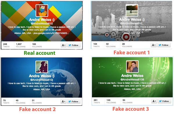 Astroturfing 2 - fake account