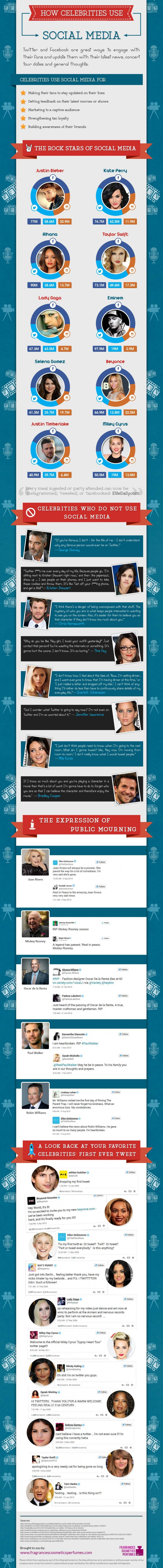 Infographie 244 - How-Celebrities-Use-Social-Media