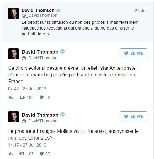 Anonymat - Tweet David Thomson