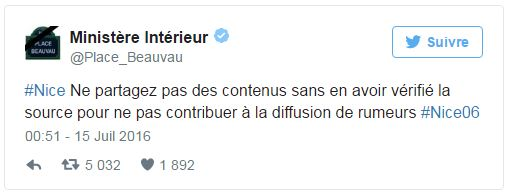 Nice - Tweet Beauvau