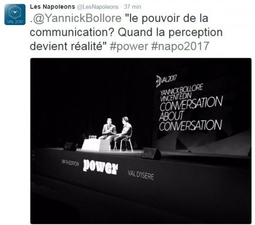 Trump - Citation Yannick Bolloré Napos 2017