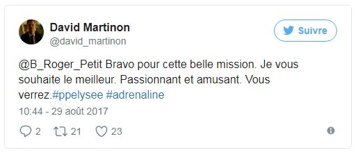 Porte Parole - Tweet David Martinon