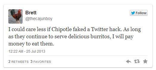 Chipotle - Tweet consommateur communication