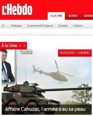 Le magazine suisse L'Hebdo convaincu d'un complot contre Cahuzac