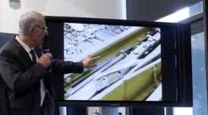 Guillaume Pepy détaille l'éclisse incriminée à la presse