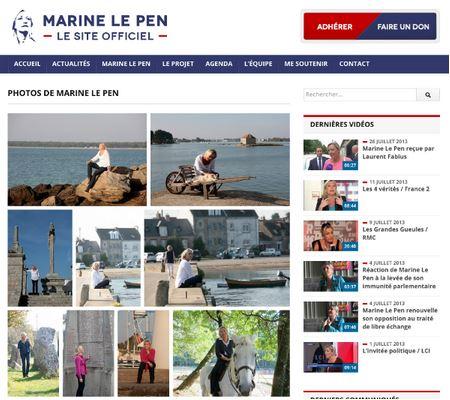 Un site qui lénifie totalement l'image de Marine Le Pen