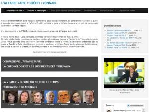 Le site de B. Tapie sur l'affaire Crédit Lyonnais