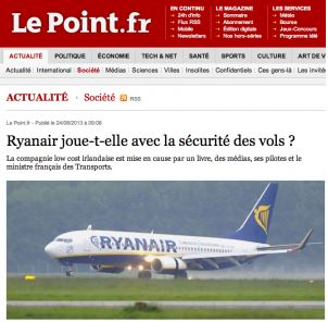 Le Point à son tour sous la mitraille de Ryanair