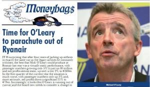 Saut en parachute d'urgence pour O'Leary ?