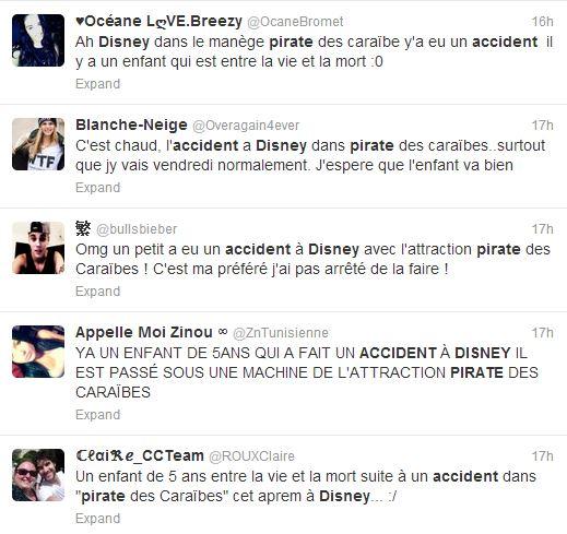 Très vite, la nouvelle de l'accident circule sur Twitter