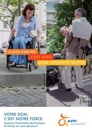 Campagne menée en 2013 pour l'association des Paralysés de France