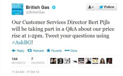 Feedback reçu au-delà des espérances pour British Gas !