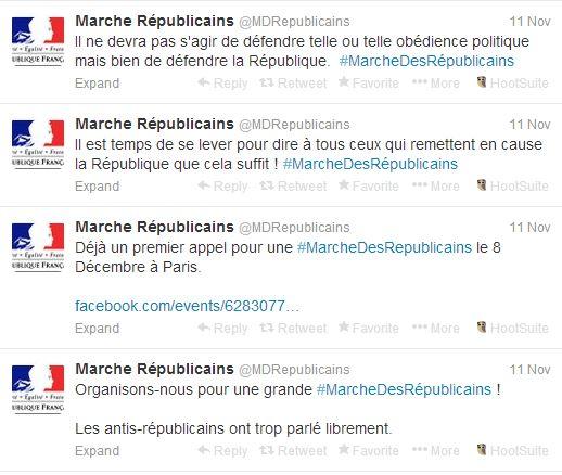 MarcheRepu - premiers tweets