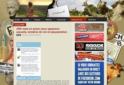 Le site Fdesouche n'est pas le dernier à véhiculer les rumeurs conformes à ses croyances