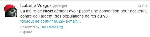 Rumeur93 - Tweet Isabelle Verger 2