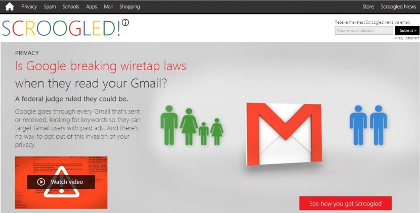 Scroogled, un site qui étrille sans compter Google