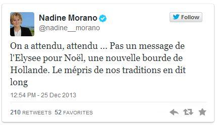 Noël, il est midi ! Nadine Morano dégaine !