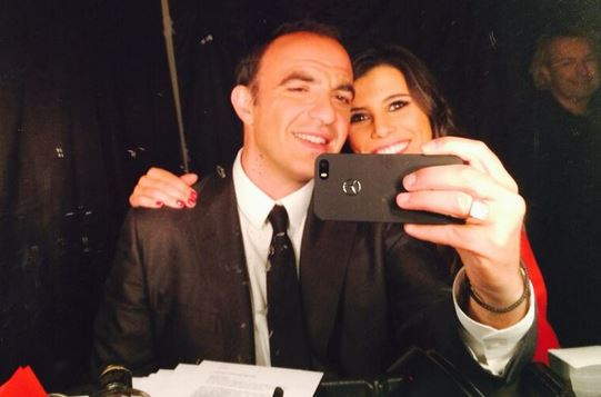 En plein tournage avec Karine Ferri sur The Voice 3