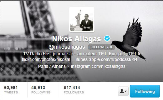 Nikos - Twitter account