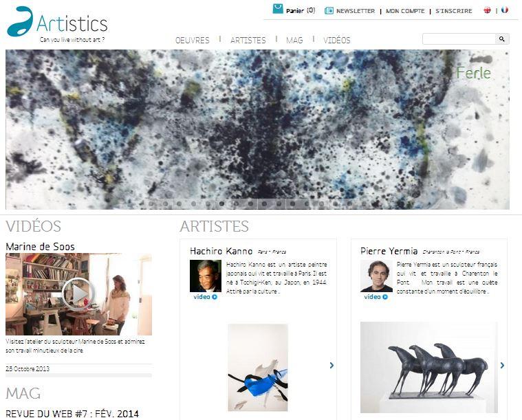 Artistics - homepage