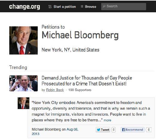 """Exemple d'une page """"Décideurs"""" désormais disponible sur Change.org"""