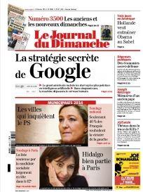 Google - Stratégie secrete couv du JDD
