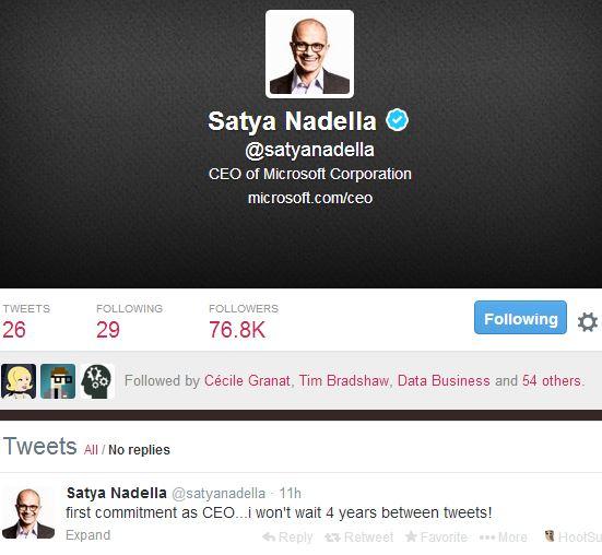 Moi président de Microsoft, je twitterai plus souvent !