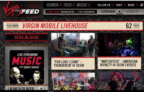 La newsroom de Virgin Mobile intervient sur un territoire légitime et ne cherche pas à en sortir