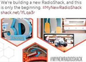 RadioShack - New RadioShack tweet