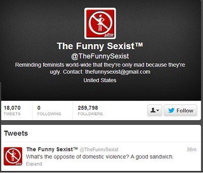 Exemple de discours sexiste sur le Web qui doit clairement être combattu