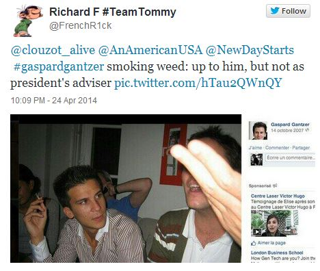 Même à l'étranger, les twittos se sont gaussés de l'histoire