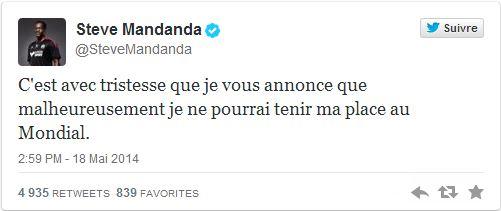 FFF - Mandanda tweet