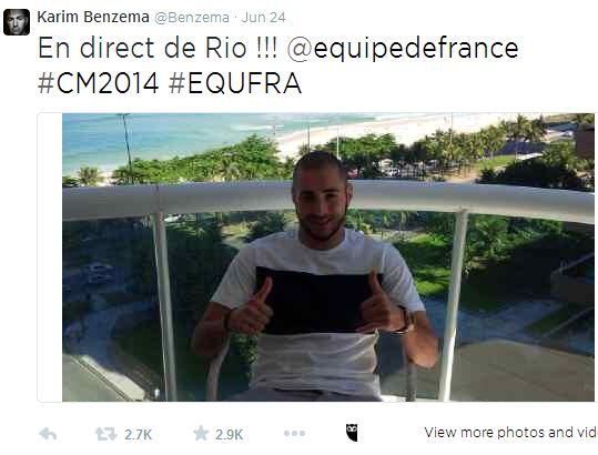 EDF - Tweet Benzema