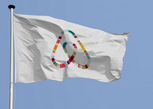 Airbnb - logo drapeau