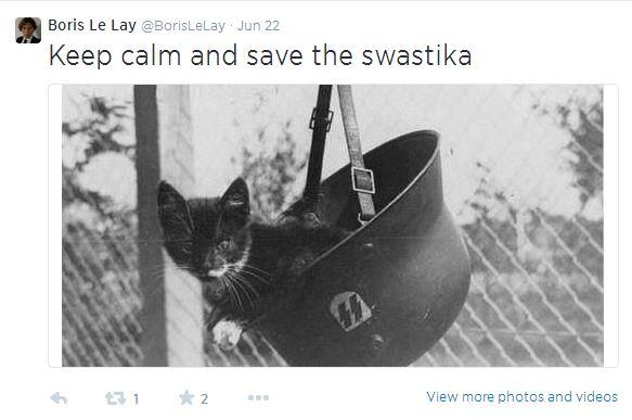 Sur la timeline Twitter de Le Lay, on trouve çà !