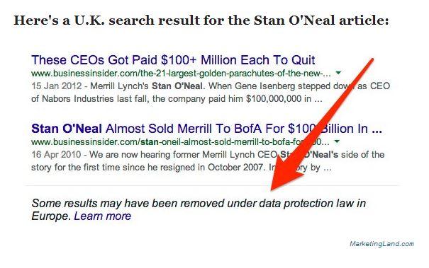 Oubli - Merrill Lynch