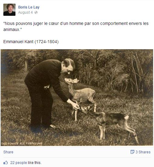 LE LAY - Hitler animaux