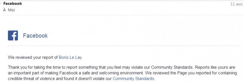 LE LAY - Refus Facebook