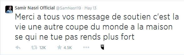 Nasri - tweet CDM 2014