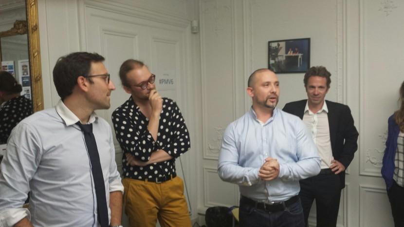De gauche à droite : Philippe Goavec, Romain Pigenel et Christian Gravel