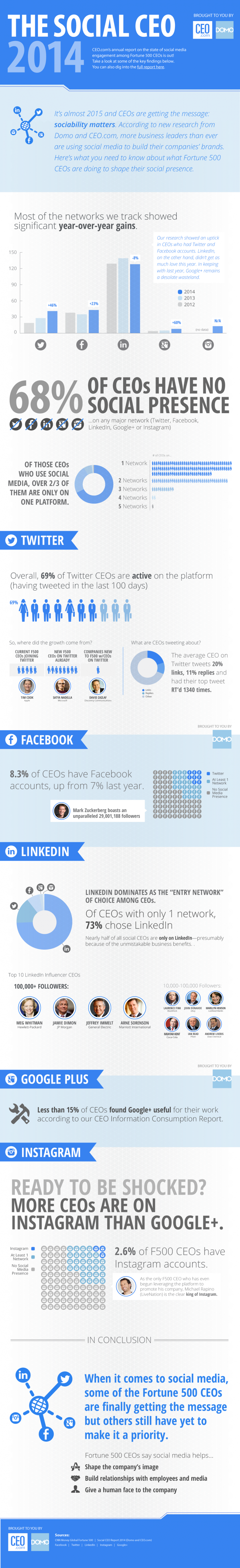 Infographie 165 - Social CEO 2014