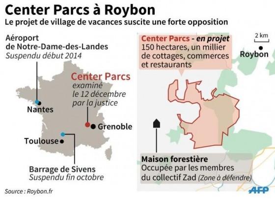 Roybon - Infographie AFP